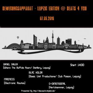 07.05.2016 Bewegungsapparat - Leipzig Edition @ Beats 4 You